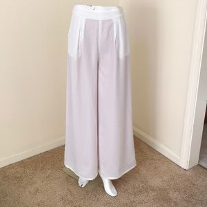 NWT! Verona XS white lined modest broad pants